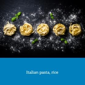 Italian pasta, rice